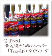 トラーニのフレーバーシロップ